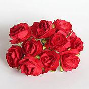 Материалы для творчества ручной работы. Ярмарка Мастеров - ручная работа Кудрявые розы 2 см красные 5 штук. Handmade.