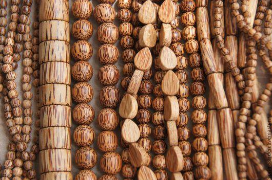 Для украшений ручной работы. Ярмарка Мастеров - ручная работа. Купить Пальмовое дерево бусины БРОНЗОВЫЙ ЗАГАР,микс. Handmade.