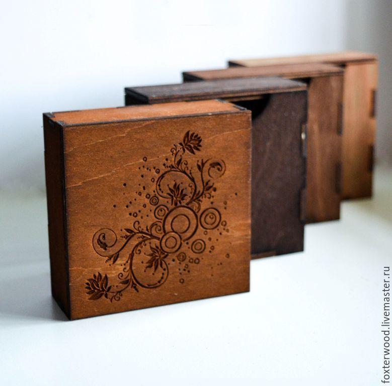 Коробочки для фотографий из дерева в наличии