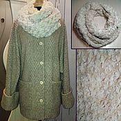 Одежда ручной работы. Ярмарка Мастеров - ручная работа Полупальто из шерстяного трикотажа. Handmade.