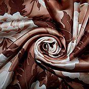 """Аксессуары ручной работы. Ярмарка Мастеров - ручная работа Платок батик """"Три шоколада"""". Handmade."""