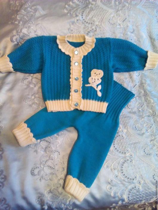 Для новорожденных, ручной работы. Ярмарка Мастеров - ручная работа. Купить Костюм для малышей. Handmade. Морская волна, костюм для девочки