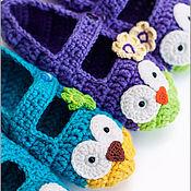 Обувь ручной работы. Ярмарка Мастеров - ручная работа Тапки-совы. Handmade.