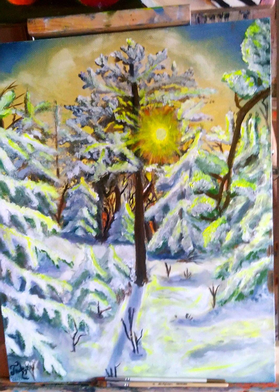 вечер в лесу, Картины, Санкт-Петербург,  Фото №1