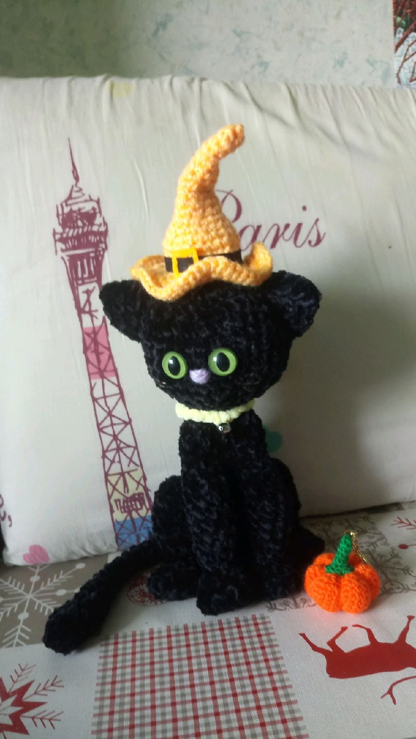 Plush toy black cat, Stuffed Toys, Tallinn,  Фото №1