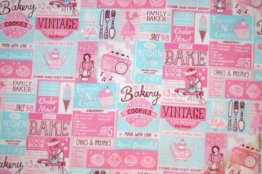 """Шитье ручной работы. Ярмарка Мастеров - ручная работа. Купить Хлопок """"Vintage Baking"""". Handmade. Комбинированный, винтажный стиль, винтажный"""