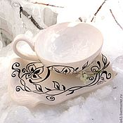 Посуда handmade. Livemaster - original item Decorative vase art Nouveau bowl with handle. Handmade.