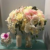 Цветы ручной работы. Ярмарка Мастеров - ручная работа Свадебная композиция для украшения гостевых банкетных столов. Handmade.