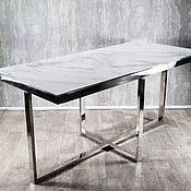 Для дома и интерьера handmade. Livemaster - original item White Cross stainless steel table. Handmade.