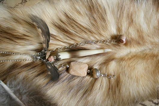 """Кулоны, подвески ручной работы. Ярмарка Мастеров - ручная работа. Купить Кулон """"Мудрость совы"""" с иглой дикобраза. Handmade. Бежевый"""