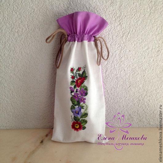 Подарочная упаковка ручной работы. Ярмарка Мастеров - ручная работа. Купить Мешочек цветы для подарка или хранения. Handmade.