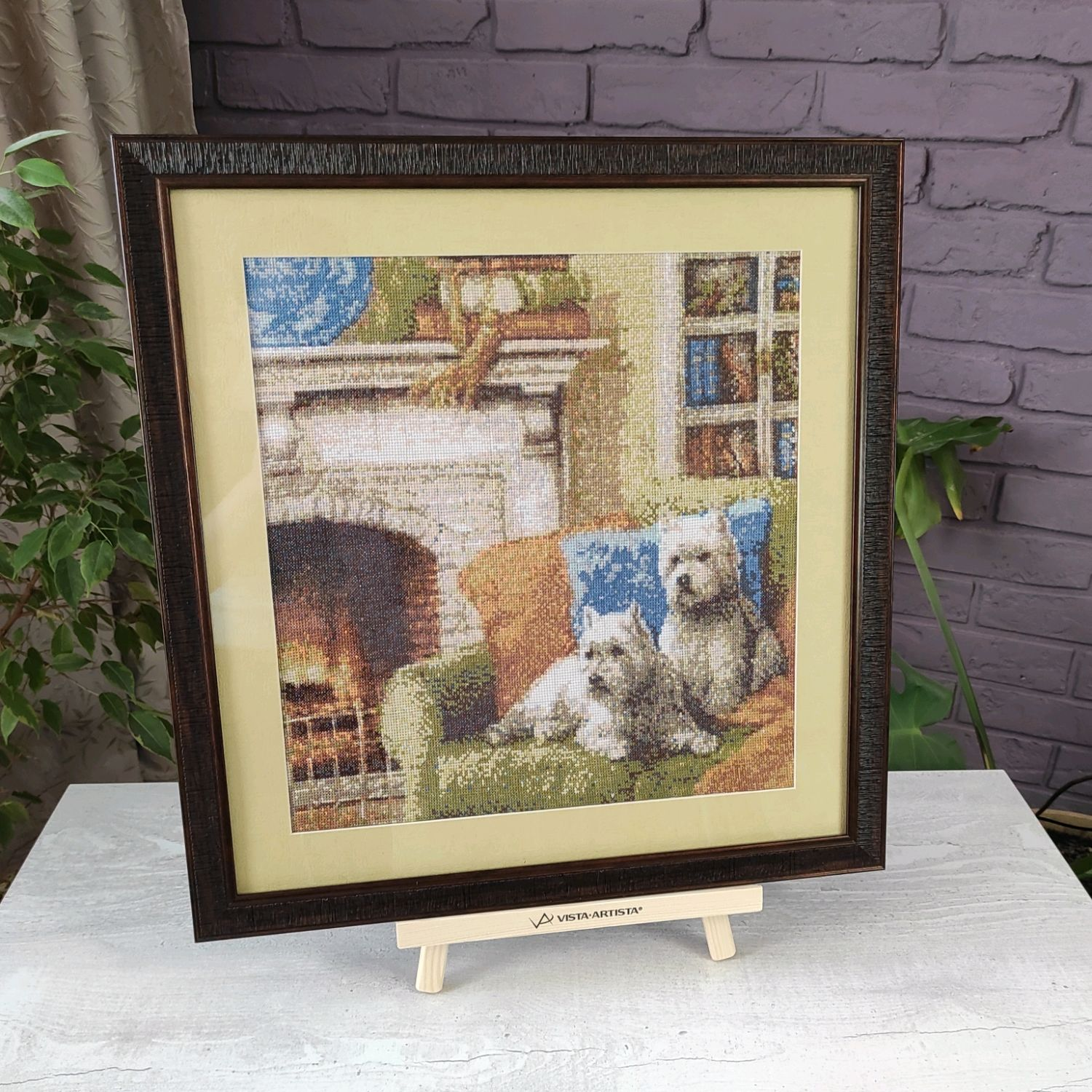 Picture cross stitch by the fireplace, cross stitch, Pictures, Chelyabinsk,  Фото №1