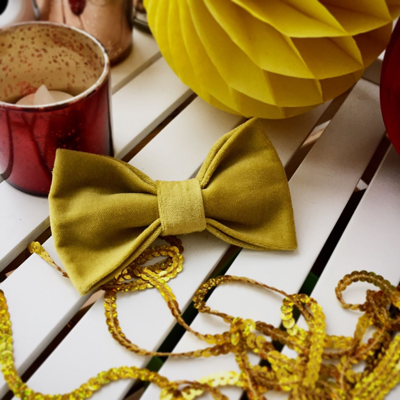 Бархатный галстук-бабочка 'Кристиан', Галстуки, Санкт-Петербург, Фото №1
