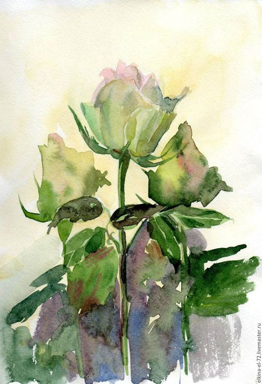 """Картины цветов ручной работы. Ярмарка Мастеров - ручная работа. Купить """"Белые"""". Handmade. Салатовый, розовый белый холодный, нежность"""