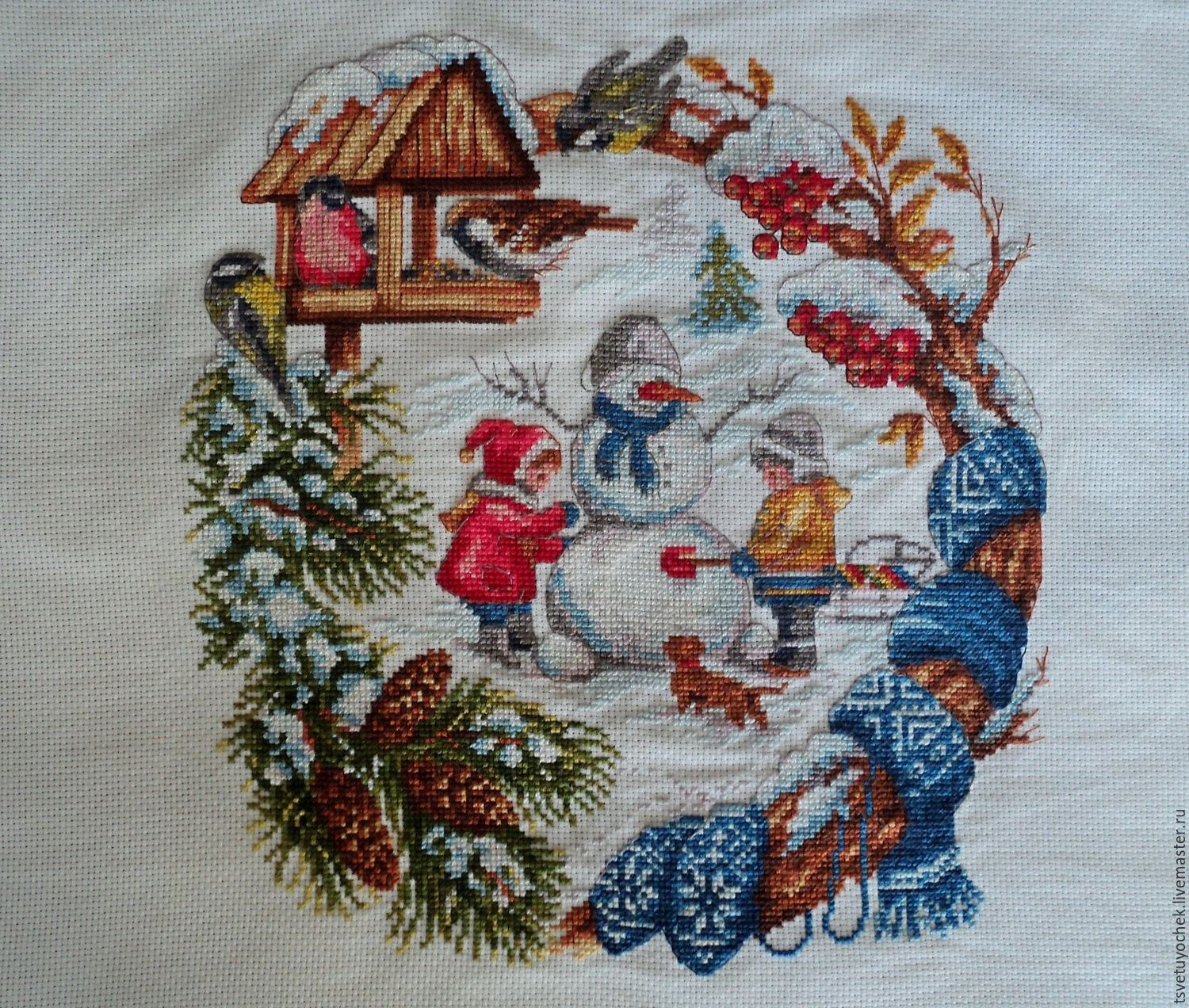 Winter entertainments the cross stitched picture, Pictures, Moscow,  Фото №1