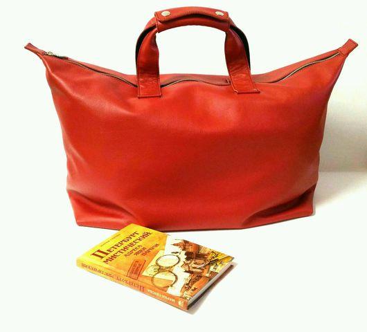 Спортивные сумки ручной работы. Ярмарка Мастеров - ручная работа. Купить Спортивня(дорожная) сумка из кожи. Handmade. Сумка женская