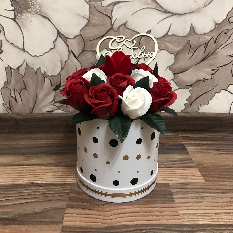 Букет из роз на мыльной основе, Букеты, Москва,  Фото №1