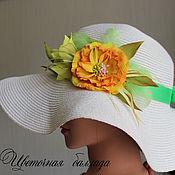"""Аксессуары ручной работы. Ярмарка Мастеров - ручная работа Украшение для шляпы """"Цветочная баллада"""". Handmade."""