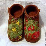 """Обувь ручной работы. Ярмарка Мастеров - ручная работа Тапочки-валенки """"Соседу-огороднику"""". Handmade."""