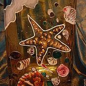 """Для дома и интерьера ручной работы. Ярмарка Мастеров - ручная работа Ваза ручной росписи в витражном стиле """"Прилив"""". Handmade."""