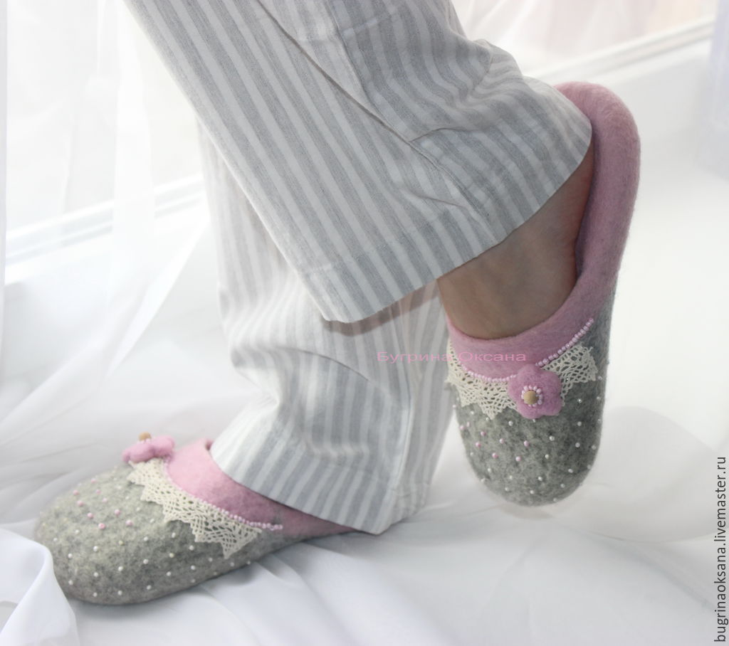 'Softer than soft' felted Slippers made of sheep wool, Slippers, St. Petersburg,  Фото №1