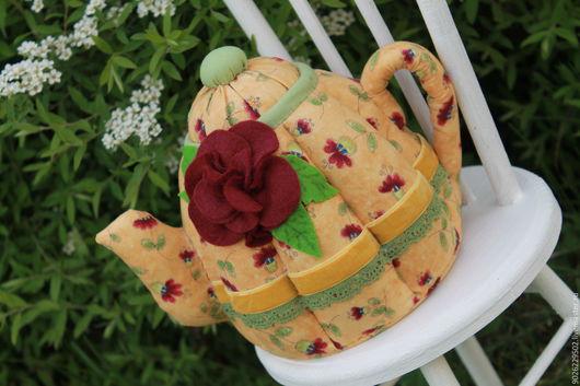 """Кухня ручной работы. Ярмарка Мастеров - ручная работа. Купить Чайничек """"Лето"""".. Handmade. Желтый, чай, текстиль для кухни, картон"""