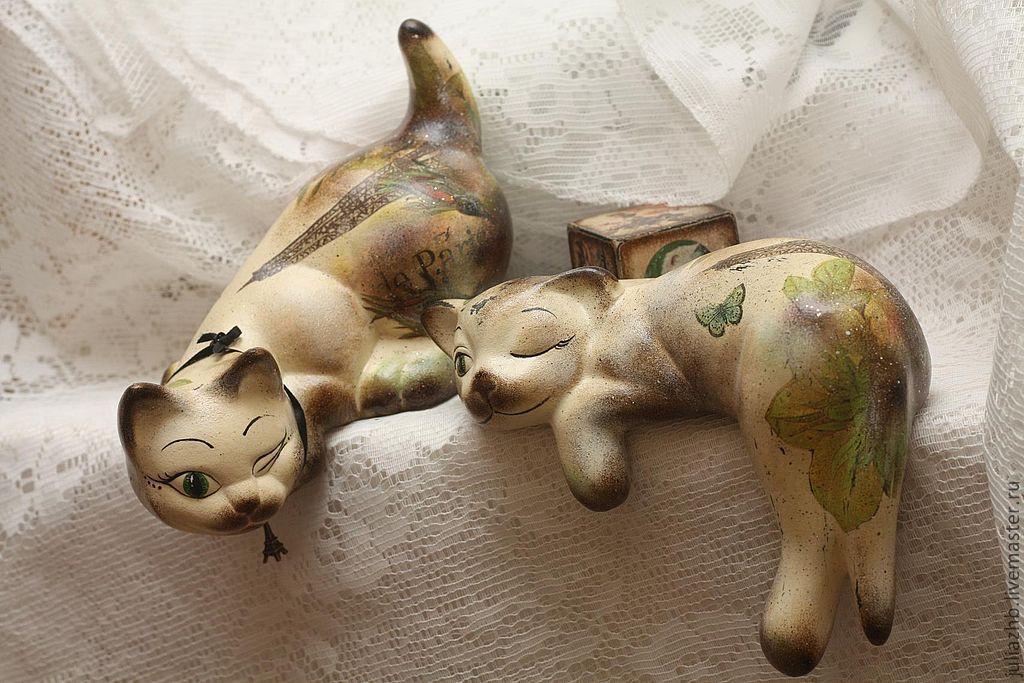 "Vintage cat figurines - ""Le Tango du Chat"" (""Cats' tango""), Interior elements, Sergiev Posad,  Фото №1"