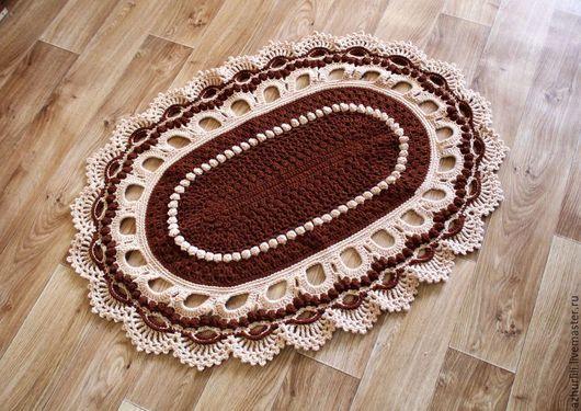 """Текстиль, ковры ручной работы. Ярмарка Мастеров - ручная работа. Купить Вязаный коврик """"Великолепный"""", Свяжу на заказ в любом цвете.. Handmade."""