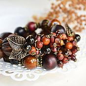 Крупные бусы из натуральных камней «Пряные»