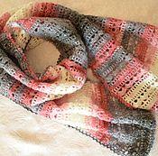 Аксессуары handmade. Livemaster - original item Scarf-Snood grey-pink with lurex. Handmade.