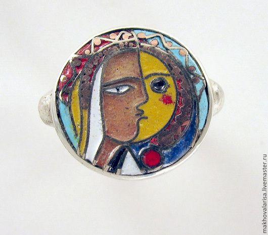 Кольца ручной работы. Ярмарка Мастеров - ручная работа. Купить Кольцо перегородчатая эмаль Пикассо. Handmade. Кольцо ручной работы