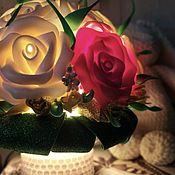 Ночники ручной работы. Ярмарка Мастеров - ручная работа Ночник «Роза». Handmade.