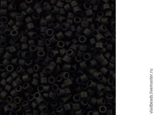 Для украшений ручной работы. Ярмарка Мастеров - ручная работа. Купить Бисер delica 310 Opaque Matte Black. Handmade.
