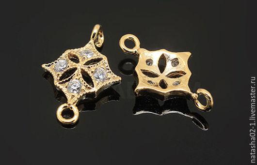 Для украшений ручной работы. Ярмарка Мастеров - ручная работа. Купить Коннектор позолота Gold Plated  Южная Корея. Handmade.