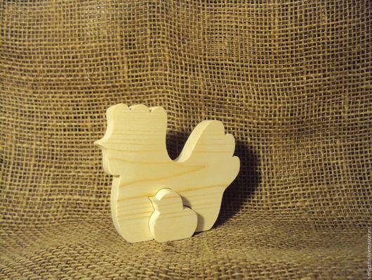 Курочка-цыплёнок пазл, деревянная игрушка ручной работы