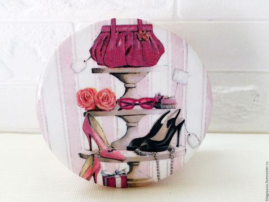 """Шкатулки ручной работы. Ярмарка Мастеров - ручная работа. Купить Шкатулка """"Шпилька""""). Handmade. Бледно-розовый, сумка, липа"""