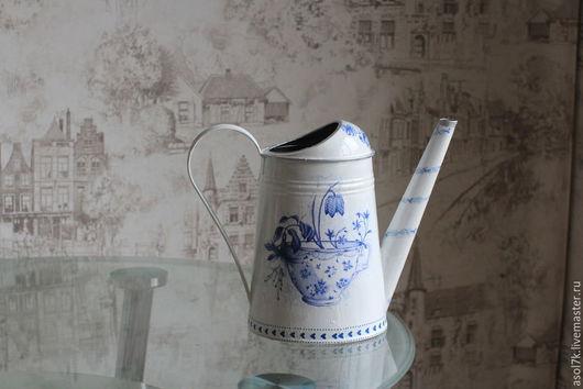 Лейки ручной работы. Ярмарка Мастеров - ручная работа. Купить лейка, голубая. Handmade. Белый, оригинальный подарок, для цветов
