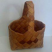 Dishes handmade. Livemaster - original item dishes: basket of birch bark. Handmade.