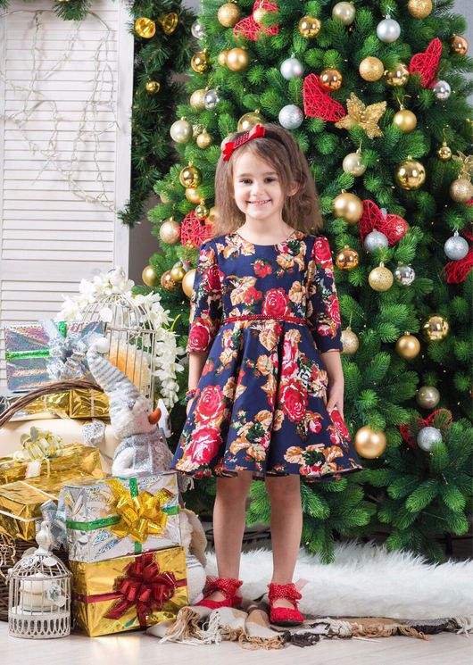 """Одежда для девочек, ручной работы. Ярмарка Мастеров - ручная работа. Купить Нарядное платье """"Розы"""". Handmade. Платье, розы, хлопок"""