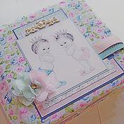 Канцелярские товары ручной работы. Ярмарка Мастеров - ручная работа Альбом для двойняшек ( мальчик и девочка). Handmade.