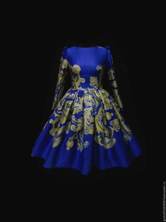 """Платья ручной работы. Ярмарка Мастеров - ручная работа. Купить Платье """"Ника"""". Handmade. Синий, дизайнерское платье, купить платье"""