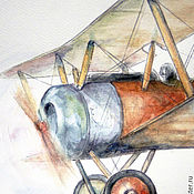 Для дома и интерьера handmade. Livemaster - original item Airplane Painting for boy. Handmade.