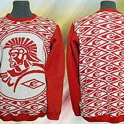 Одежда ручной работы. Ярмарка Мастеров - ручная работа Тату-свитер -  СПАРТАК ромбики. Handmade.