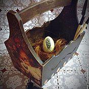 """Для дома и интерьера ручной работы. Ярмарка Мастеров - ручная работа Короб """" Бабушкино лукошко"""".. Handmade."""