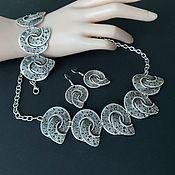 Украшения handmade. Livemaster - original item Jewelry sets: necklace bracelet and earrings, metal jewelry. Handmade.