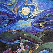 """Картины и панно ручной работы. Ярмарка Мастеров - ручная работа Картина """"Ночные лайнеры"""". Handmade."""