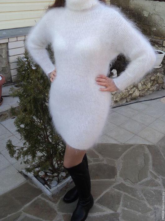 Платья ручной работы. Ярмарка Мастеров - ручная работа. Купить Платье пуховое Снегурочка. Handmade. Белый, платье купить