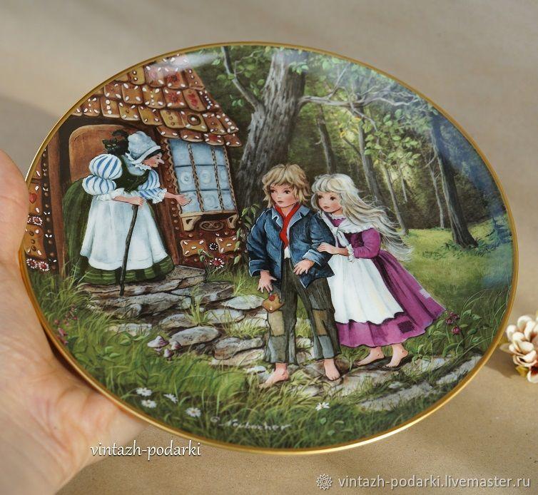 Фарфоровая декоративная тарелка Гензель и Гретель, Тарелки, Москва,  Фото №1