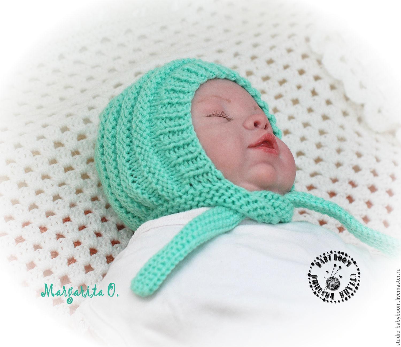 Вязаные шапочки для новорожденных мальчиков LS