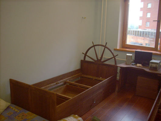 Мебель ручной работы. Ярмарка Мастеров - ручная работа. Купить Кровать в морском стиле. Handmade. Кровать, морской стиль